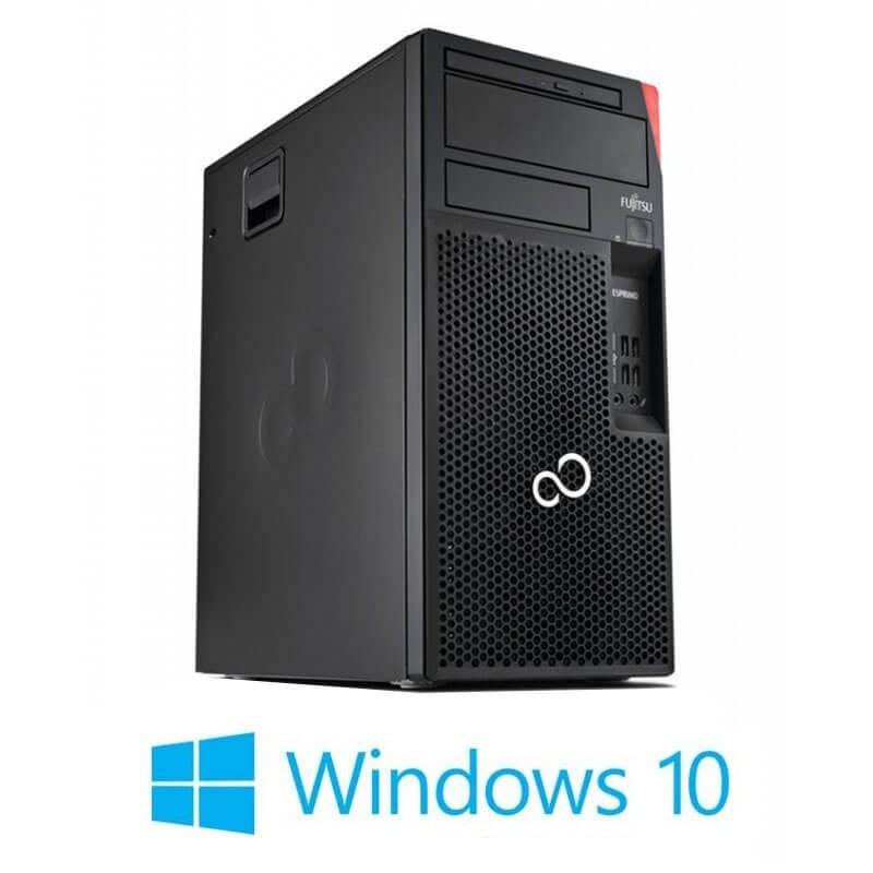 Calculatoare Fujitsu ESPRIMO P558, Hexa Core i5-8500T, 240GB SSD NOU, Win 10 Home