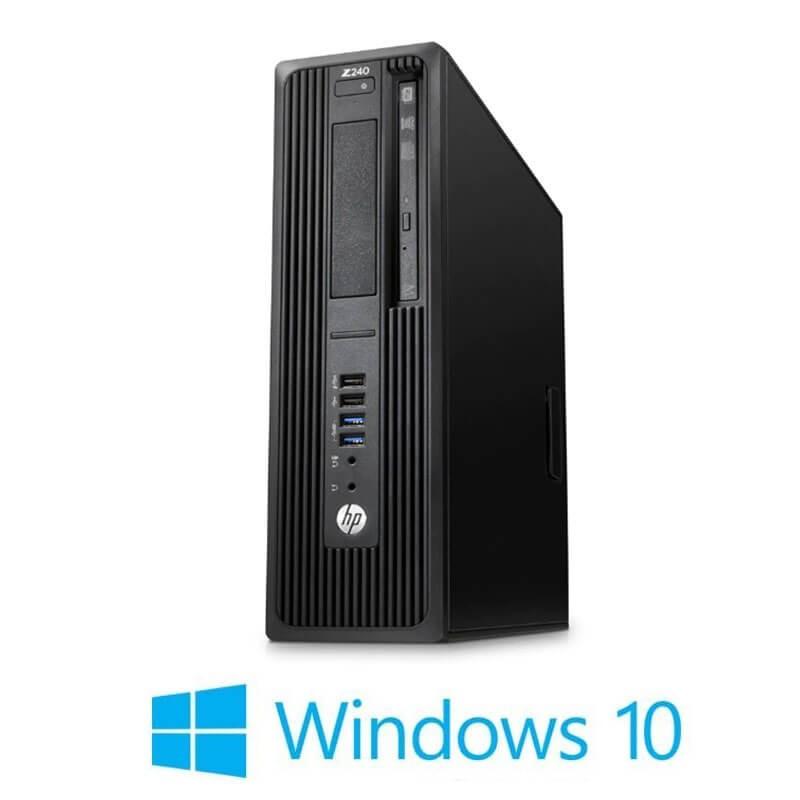 Workstation HP Z240 SFF, Quad Core i7-6700T, 16GB DDR4, Win 10 Home