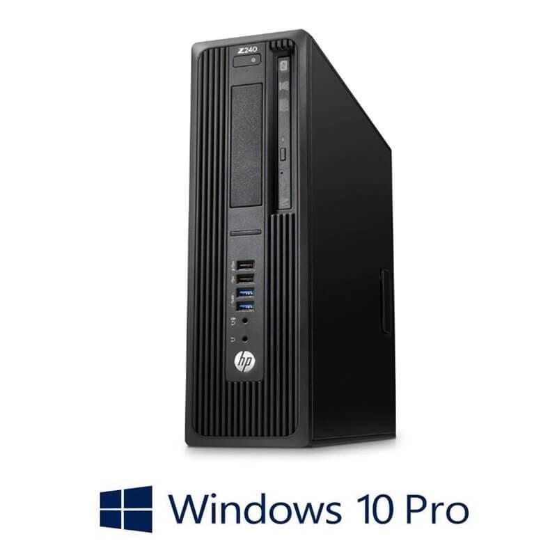 Workstation HP Z240 SFF, Quad Core i7-6700T, 16GB DDR4, Win 10 Pro