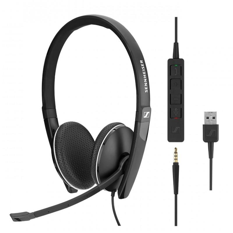 Casti Profesionale Over Ear Sennheiser SC160 Duo + Adaptor USB