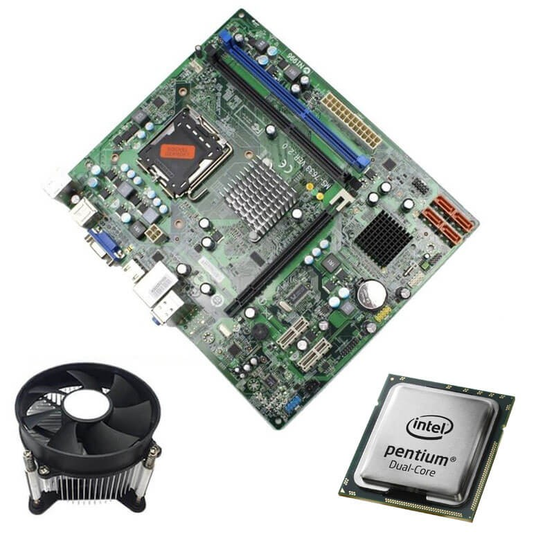 Kit Placi de Baza Refurbished Medion MS-7633, Intel Dual Core E5700, Cooler