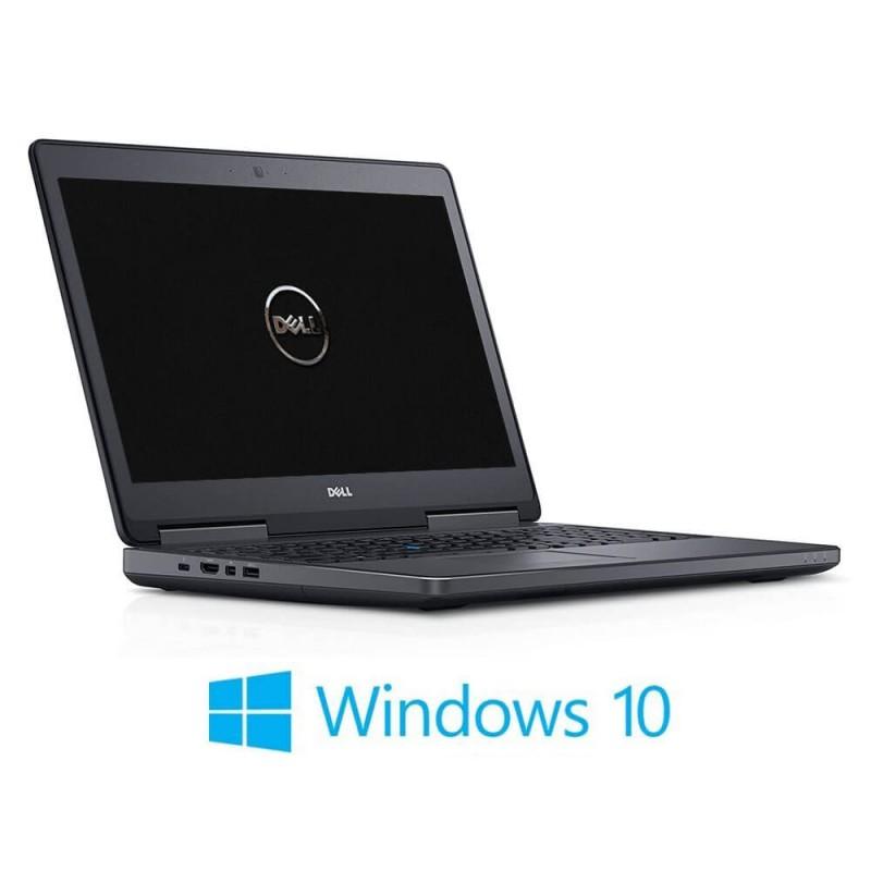 Laptop Dell Precision 7510, i7-6820HQ, 16GB RAM, 512GB SSD, Quadro M1000M, Win 10 Home