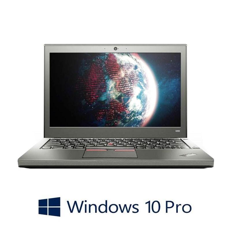 Laptopuri Lenovo ThinkPad X250, i7-5600U, FHD, Webcam, Win 10 Pro