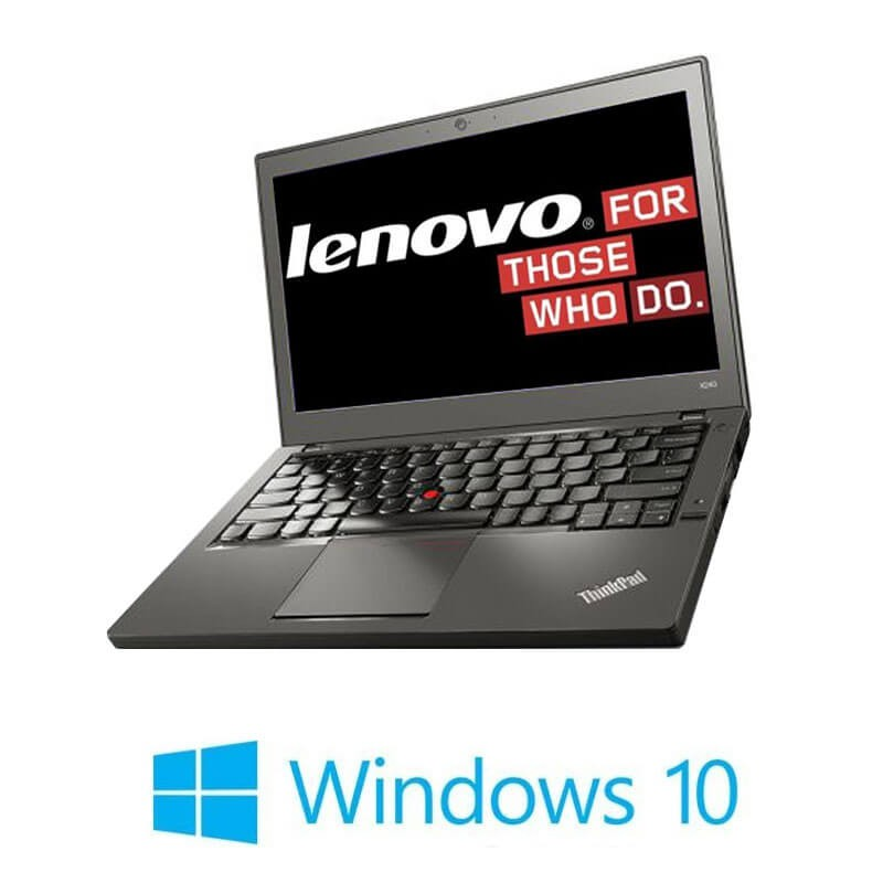 Laptop Refurbished Lenovo ThinkPad X260, i5-6200U, DDR4, Webcam, Win 10 Home