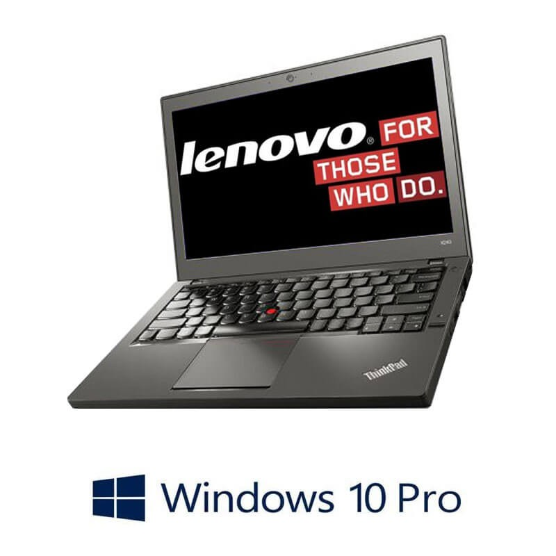 Laptop Refurbished Lenovo ThinkPad X260, i5-6200U, DDR4, Webcam, Win 10 Pro
