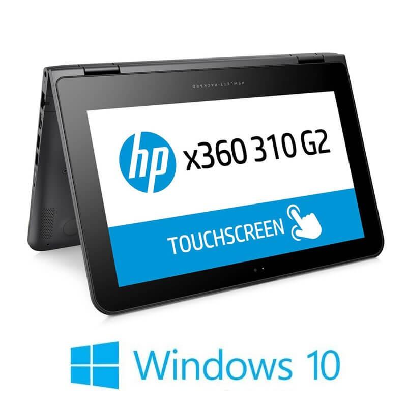 Laptop Touchscreen HP x360 310 G2, Quad Core N3700, SSD, IPS, Webcam, Win 10 Home