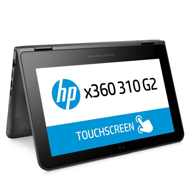 Laptop Touchscreen SH HP x360 310 G2, Quad Core N3700, 128GB SSD, IPS, Webcam