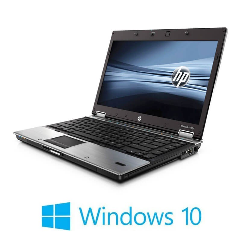 Laptopuri HP EliteBook 8440p, Intel i5-560M, 14 inci, Webcam, Windows 10 Home