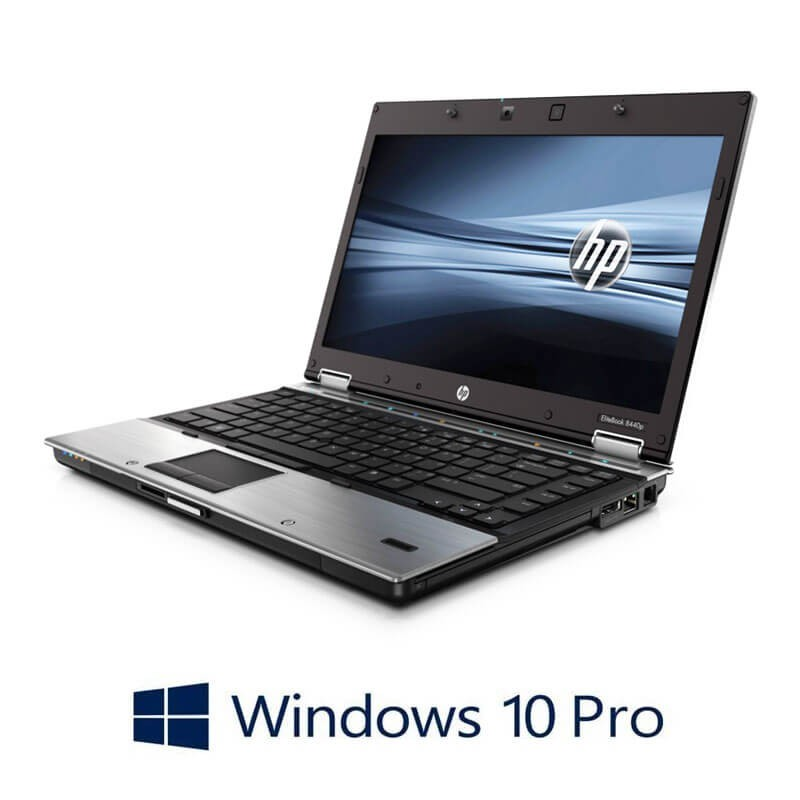 Laptopuri HP EliteBook 8440p, Intel i5-560M, 14 inci, Webcam, Windows 10 Pro