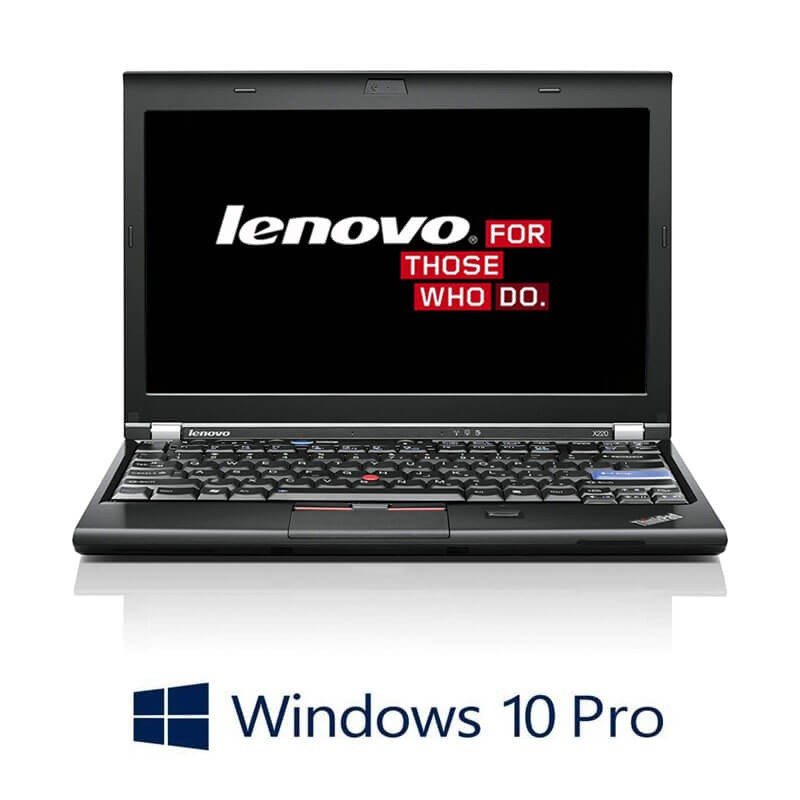 Laptopuri Lenovo ThinkPad X220, Intel i5-2520M, 750GB HDD, Webcam, Win 10 Pro