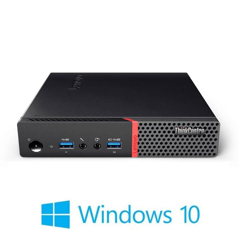Mini PC Lenovo ThinkCentre M900, Quad Core i5-6500T, 512GB SSD, Windows 10 Home