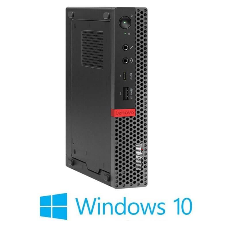 Mini PC Lenovo ThinkCentre M920q, Hexa Core i7-8700T, 256GB SSD, Windows 10 Home