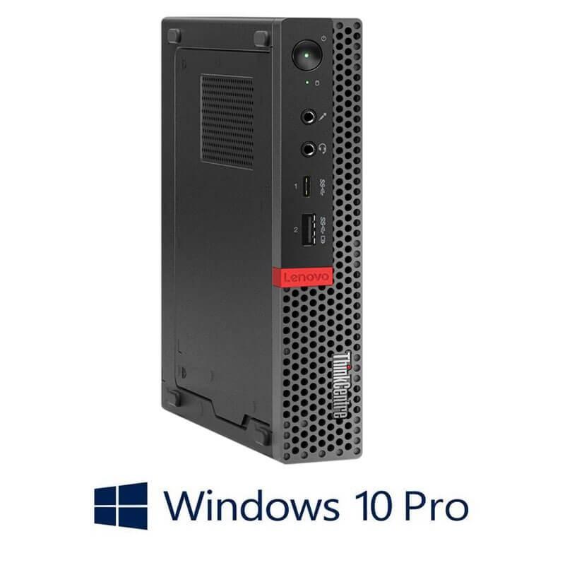 Mini PC Lenovo ThinkCentre M920q, Hexa Core i7-8700T, 256GB SSD, Windows 10 Pro