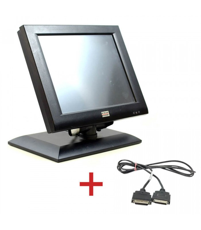 Monitor Touch BA72A-2, IR-Touch, 12 inci + Cablu Special Plink Wincor