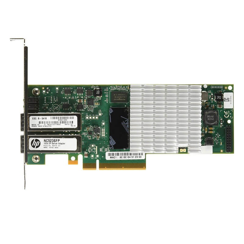 Placa de Retea Refurbished HP QLE3242 Fibre Channel Dual Port 10Gbps
