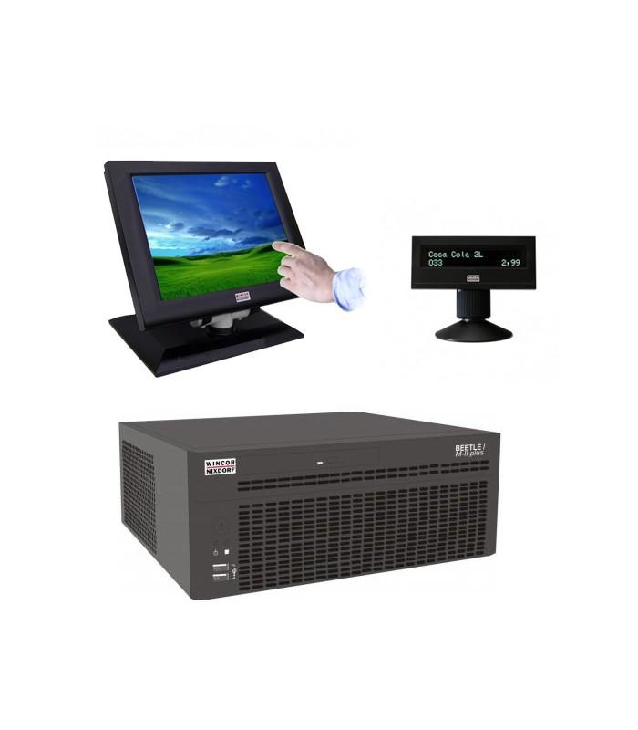 Sistem POS Wincor Beetle M-II Plus G41, Touchscreen IR BA73A-2 15 inci, display client BA63