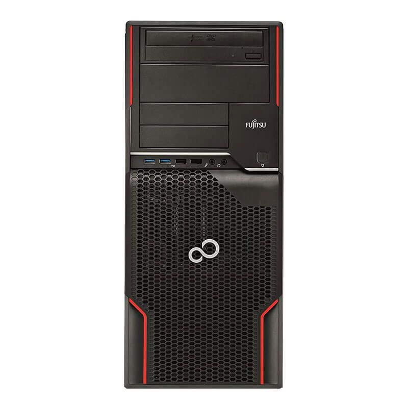 Workstation Second Hand Fujitsu CELSIUS W520, Intel i3-3220, GeForce 605 DP